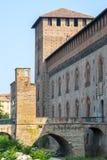 Pavia, Schloss stockbild