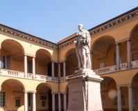 Pavia. Statue of Alessandro Volta Royalty Free Stock Photos