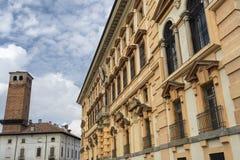 Pavia, W?ochy: historyczni budynki obrazy royalty free