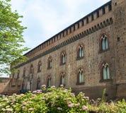 Pavia (Włochy): kasztel obrazy stock