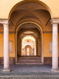Pavia. witching between the arches Stock Image