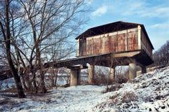 Pavie, hangar abandonné d'hydravion Images libres de droits