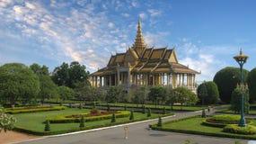 Pavilhão cambojano Phnom Penh de Royal Palace foto de stock