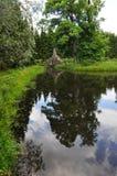 Pavilhão caprichoso no parque Fotos de Stock Royalty Free