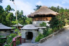 Pavilhão com um telhado redondo. Imagens de Stock Royalty Free