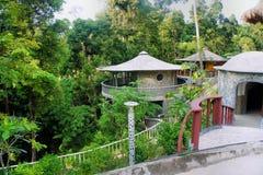 Pavilhão com um telhado redondo. Foto de Stock