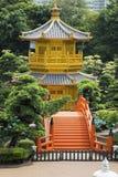 Pavilhão da perfeição absoluta em Nan Lian Garden, Hong Kong imagem de stock royalty free