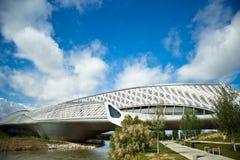 Pavilhão da ponte em Zaragoza em 16, em maio de 2013. Imagem de Stock Royalty Free