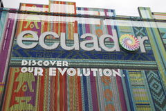 Pavilhão de Equador fotografia de stock