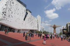 Pavilhão de Itália na tarde na expo, exposição universal sobre foto de stock