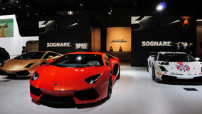 Pavilhão de Italy Lamborghini Imagens de Stock