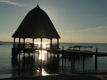 Pavilhão de Maldivas na hora dourada Fotos de Stock