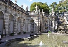 Pavilhão do banho das ninfas de Zwinger de Dresden em Alemanha foto de stock
