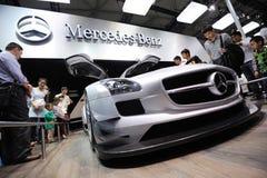 Pavilhão do Benz de Mercedes, SLS AMG GT3 Imagem de Stock