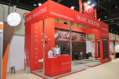 Pavilhão do cinturão de Masc na exposição 2013 de Abu Dhabi International Hunting e do cavaleiro Imagens de Stock Royalty Free