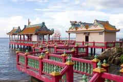 Pavilhão do estilo chinês no beira-mar Foto de Stock Royalty Free