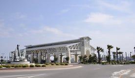 Pavilhão do Oceanfront de Gulfport Mississippi fotos de stock royalty free