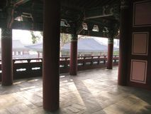 Pavilhão do palácio coreano em Seoul foto de stock