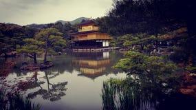 Pavilhão dourado de Kinkaku-ji Fotografia de Stock