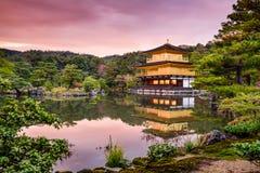 Pavilhão dourado de Kyoto Imagens de Stock