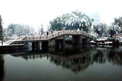 Pavilhão e ponte Imagens de Stock Royalty Free