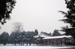 Pavilhão e seu corredor Imagem de Stock Royalty Free
