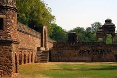 Pavilhão histórico, parque de Lodhi, Deli Foto de Stock