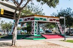Pavilhão/Kiosko do parque do Chicano no bairro Logan imagens de stock royalty free
