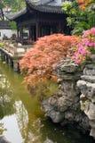 Pavilhão no jardim de Yu Yuan Imagem de Stock Royalty Free
