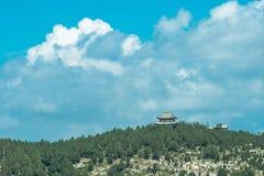 Pavilhão no parque de Langmaoshan fotografia de stock royalty free