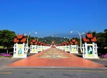 Pavilhão real no parque real Rajapruek, Chiang Mai fotos de stock