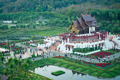 Pavilhão real no parque real da flora imagens de stock