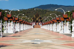 Pavilhão real Salão, Chiangmai, Tailândia Foto de Stock
