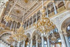 Pavilhão Salão, museu de eremitério, St Petersburg, Rússia fotos de stock
