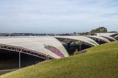 Pavilhões do Fest da uva de Festa a Dinamarca Uva - Caxias faz Sul, Rio Grande fotografia de stock royalty free