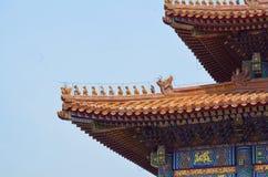 Pavilhões dos pagodes dentro do complexo do Templo do Céu no Pequim Imagem de Stock