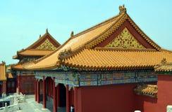 Pavilhões dos pagodes dentro do complexo do Templo do Céu no Pequim Imagens de Stock Royalty Free