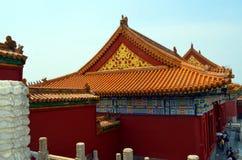 Pavilhões dos pagodes dentro do complexo do Templo do Céu no Pequim Imagens de Stock