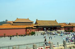 Pavilhões dos pagodes dentro do complexo do Templo do Céu no Pequim Fotografia de Stock Royalty Free