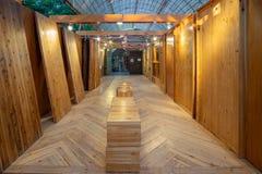 Pavilh?o de madeira de Taiwan do mundo Flora Exposition de Taichung imagem de stock royalty free