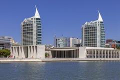 Pavilhao de葡萄牙-圣地加百利/拉斐尔耸立 免版税库存照片
