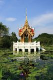 Pavilion. Thai pavilion in a lotus pool Royalty Free Stock Images