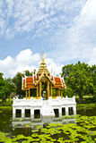 The pavilion. On the lotus pool royalty free stock photo