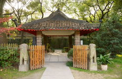 Pavilion. Chinese pavilion in a park.It's a very beautiful view Royalty Free Stock Photo