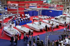 Pavilion in 52th boat show Genoa Royalty Free Stock Photo
