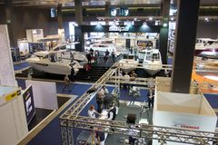 Pavilion in 52th boat show Genoa Royalty Free Stock Photography