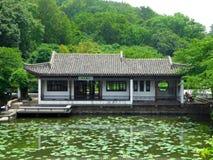 A pavilion above a pond Stock Images