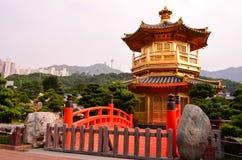 Pavilion of Absolute Perfection. In Nan Lian Garden, Diamond Hill, Hong Kong Stock Photography