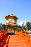 The Pavilion of Absolute Perfection in Hong Kong. The Pavilion of Absolute Perfection in the Nan Lian Garden, it is one of the landmark in Hong Kong at day time Stock Images