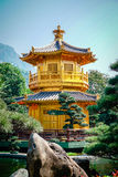 Pavilion of Absolute Perfection Lotus Pond Stock Photography